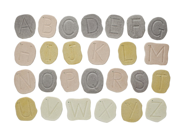 Feels-Write Uppercase Letter Stones - Small Eco Steps - Letter Activities for kids.