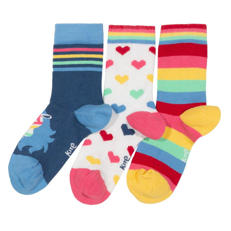 Kite Rainbow Zebra Socks