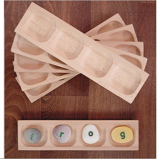 Yellow Door Education 4-frame natural sorting tray Small Eco Steps