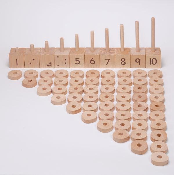 Yellow Door Education 1-10 Natural Number Stacker - Small Eco Steps
