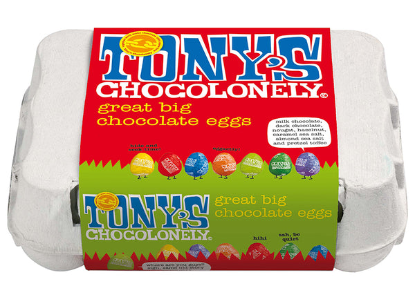 Tony's Chocolonely 12 Easter Eggs Assortment