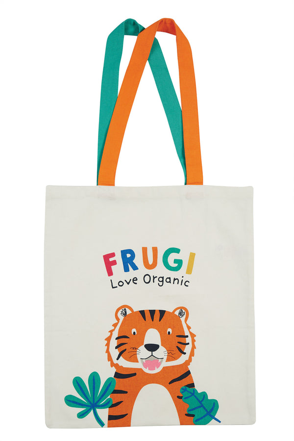 Frugi Soft White Tiger Tote Bag