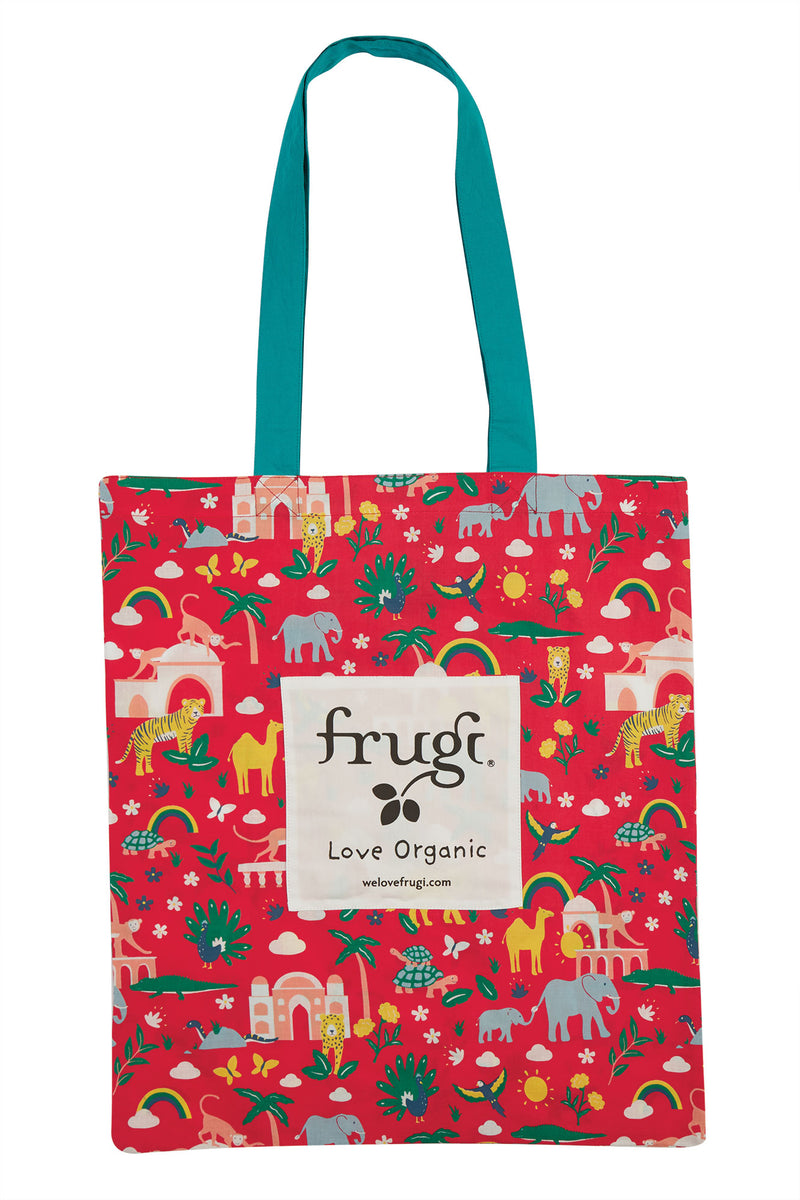 Frugi True Red India Large Tote Bag