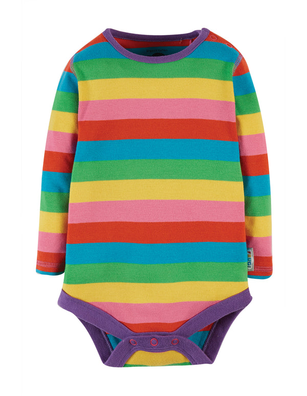 Frugi Foxglove Rainbow Stripe Body
