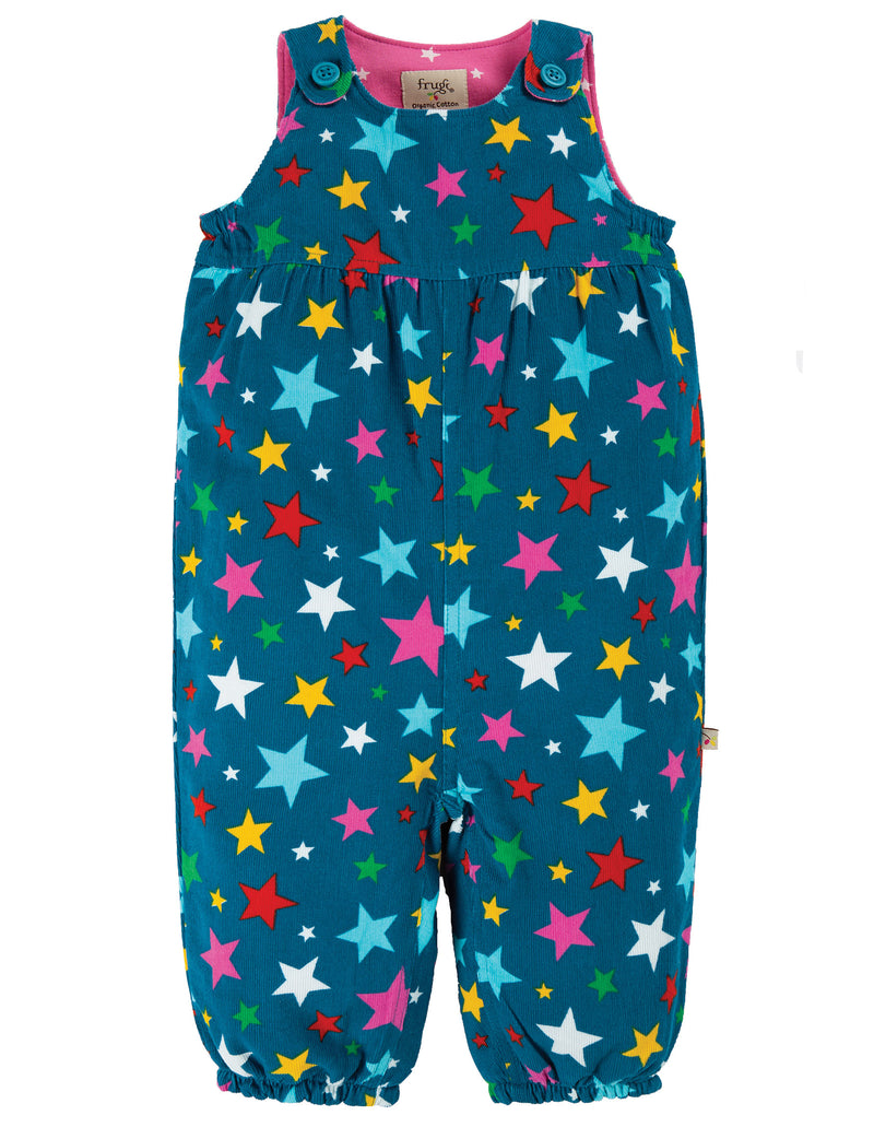 Frugi Rainbow Stars Willow Cord Dungarees
