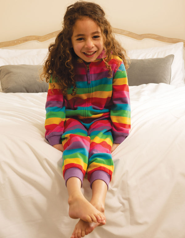 Frugi Foxglove Stripe Big Snuggle Suit