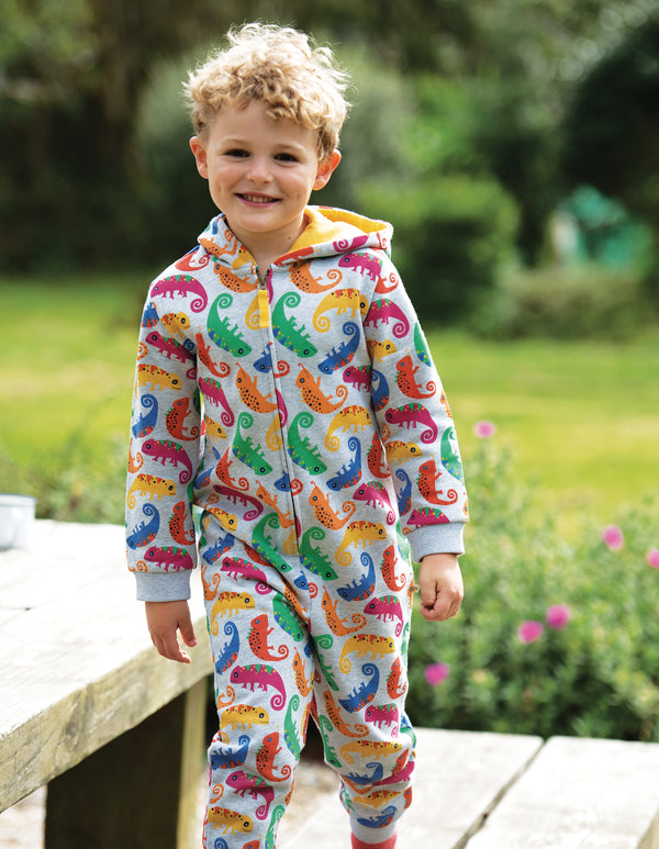 Grey Marl Chameleon Big Snuggle Suit,