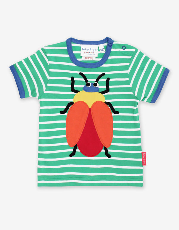 Toby Tiger Organic Beetle Applique T-Shirt
