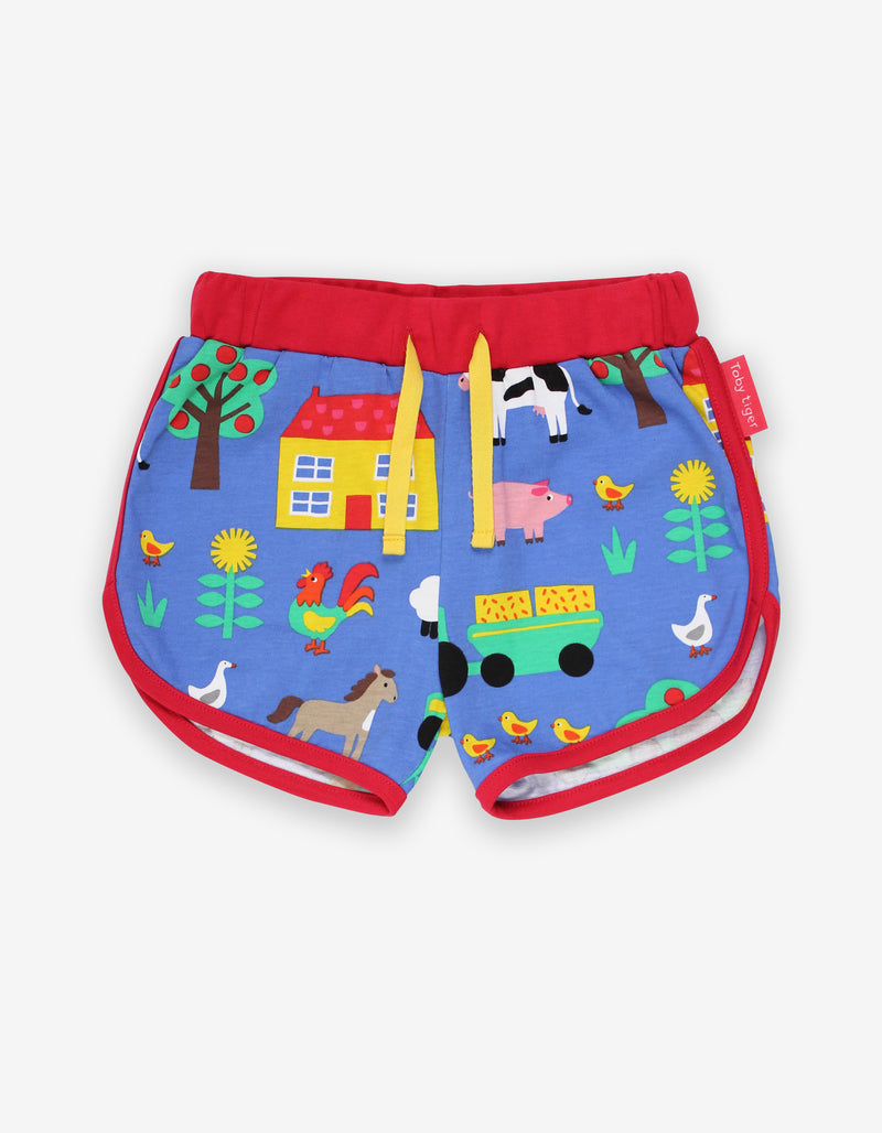 Toby Tiger Organic Farm Print Running Shorts