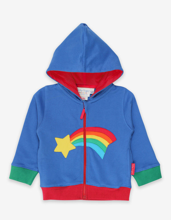 Toby Tiger Organic Shooting Star Applique Hoodie