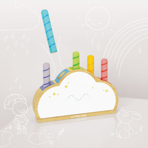 Le Toy Van Rainbow Cloud Pop - Small Eco Steps