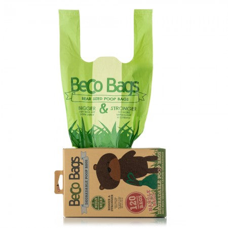 Unscented Degradable Handle Poop Bags - Small Eco Steps
