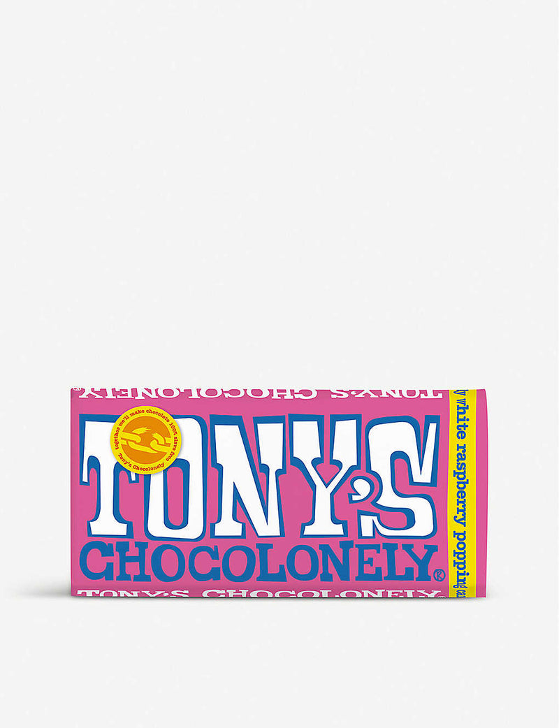 Tony's Chocolonely White Raspberry Popping Candy 28% (180g)