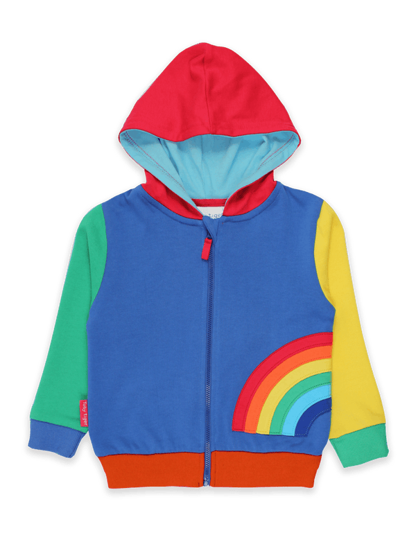 Organic Rainbow Applique Hoody - Small Eco Steps