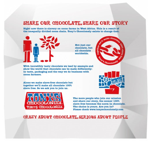 Free Tony's Chocolonely Milk Chocolate 32% Taster - Small Eco Steps