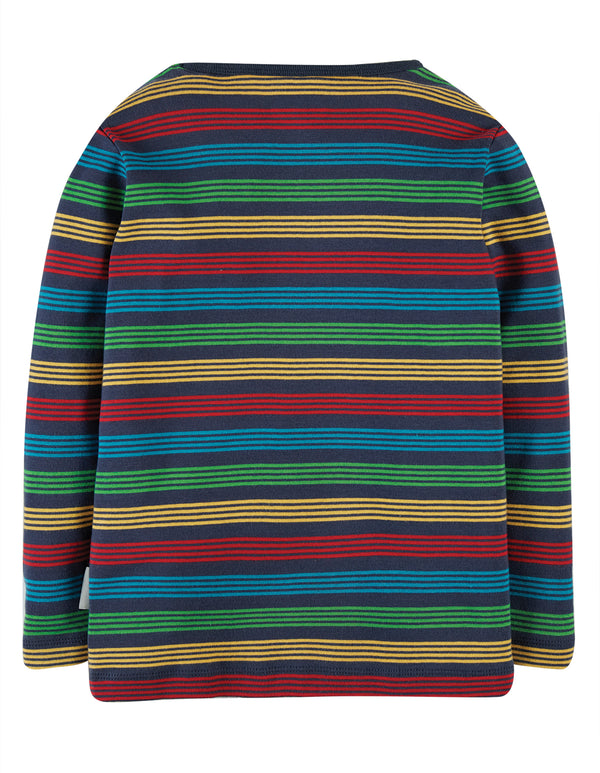 Frugi Tobermory Rainbow Stripe Favourite Long Sleeved Tee