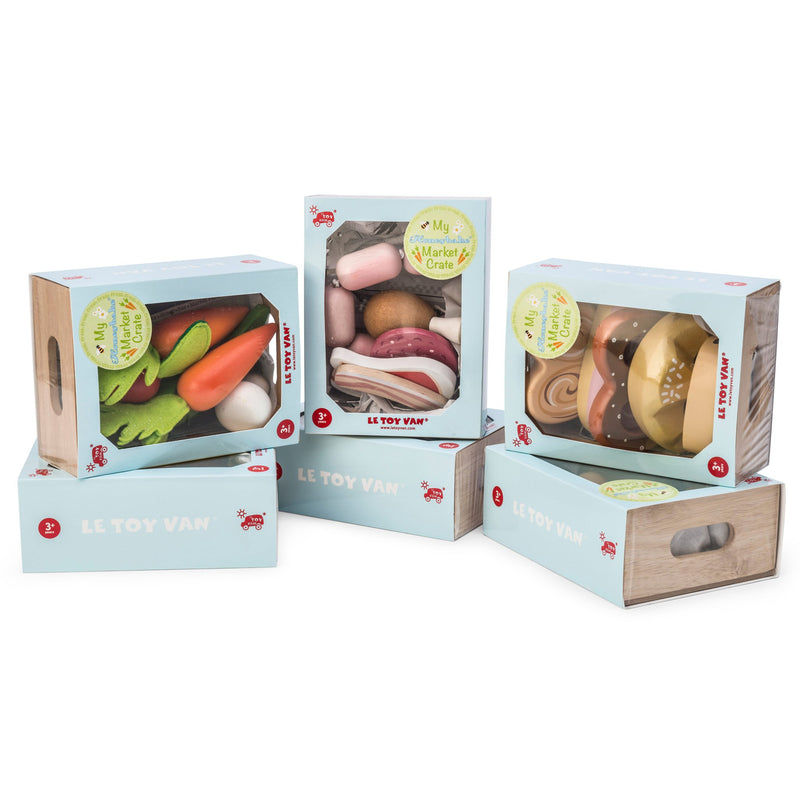 "Le Toy Van Honeybee Market Crate - Fruit ""5 a Day"""