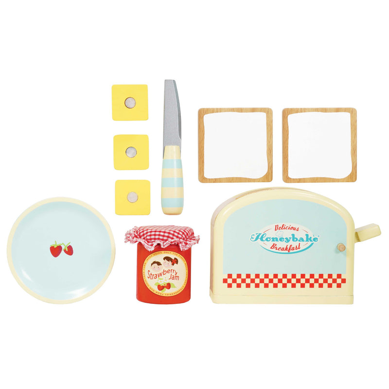 Le Toy Van Honeybake Breakfast Toaster Set - Small Eco Steps