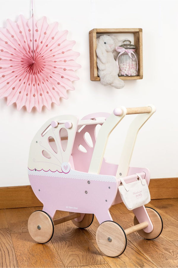 Le Toy Van Pink Pram - Small Eco Steps