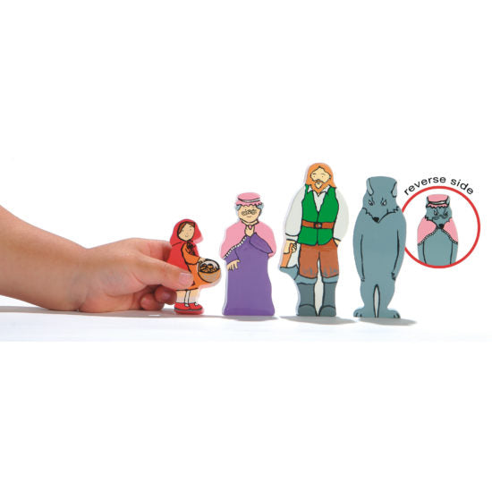 Little Red Riding Hood Wooden Character Set