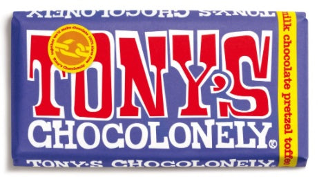Tony's Chocolonely Dark Milk Pretzel Toffee 42%