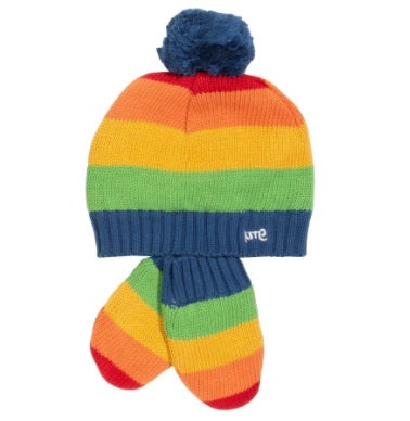 Kite Rainbow hat and mitts