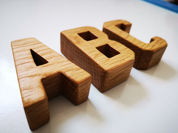 Sustainable Wood Alphabet Capital Letters - Small Eco Steps