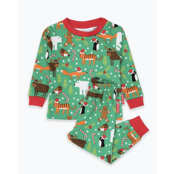 Toby Tiger Christmas Print Long Sleeved Pyjamas