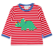 Triceratops Applique L/s T-Shirt
