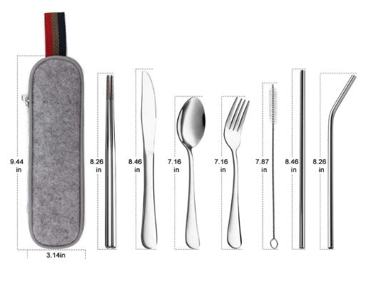Complete Dinnerware Set with Travel Bag - Small Eco Steps