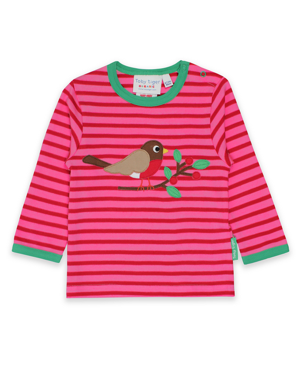 Robin Applique Long Sleeved T-shirt