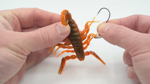 how to rig a scorpion on a jig