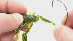 how to rig a soft plastic scorpion on a worm hook