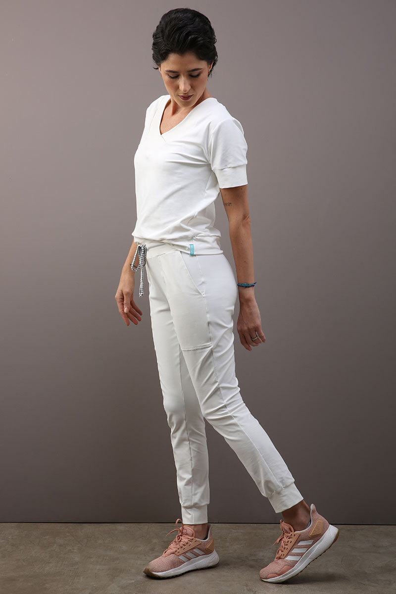 SCRUB FEMININO VIRUS/BAC OFF - OFF WHITE