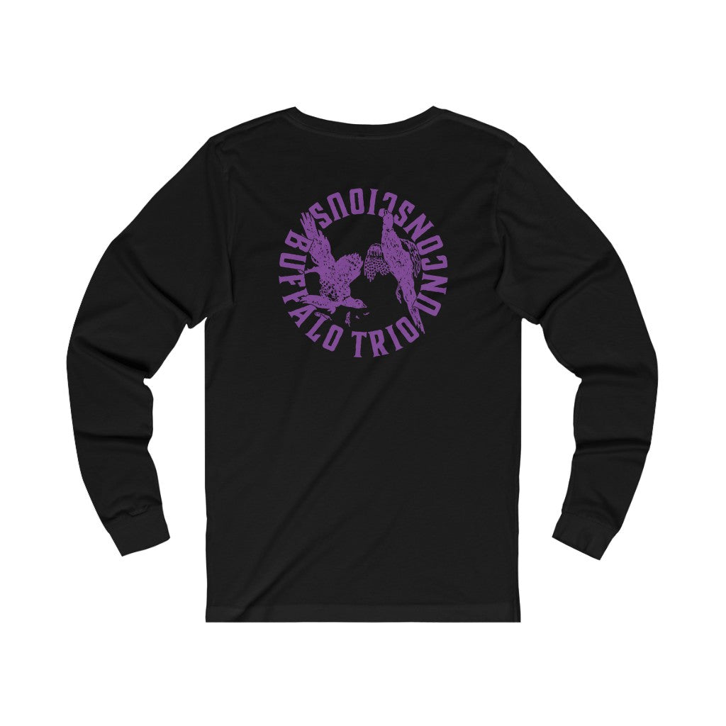 Longsleeve Tee Buffalo Trio - Unconscious (Black/Purple) - International