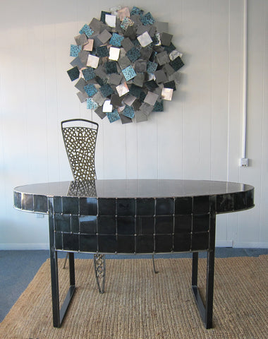 Black Oval desk