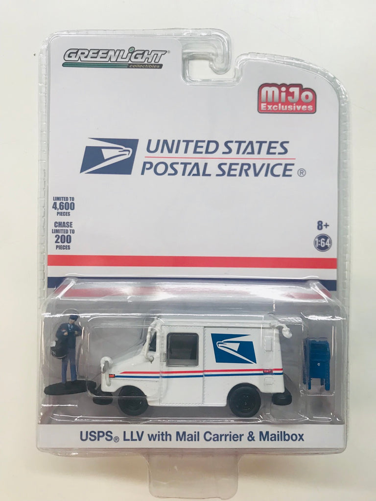 GREENLIGHT MIJO EXCLUSIVES USPS LLV WITH MAIL CARRIER & MAILBOX