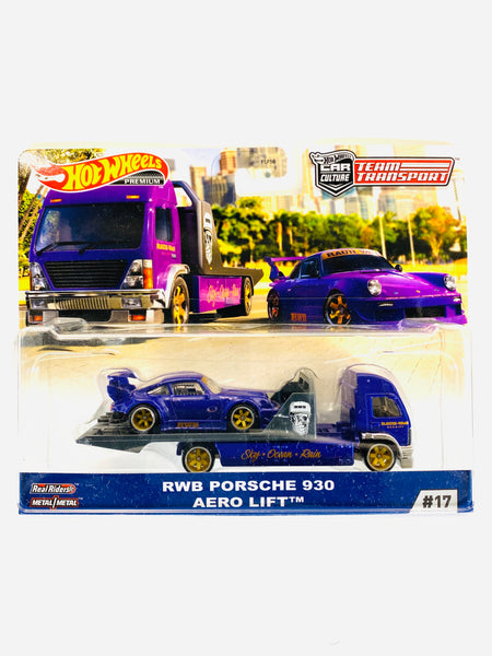 HOT WHEELS TEAM TRANSPORT RWB PORSCHE 930 AERO LIFT