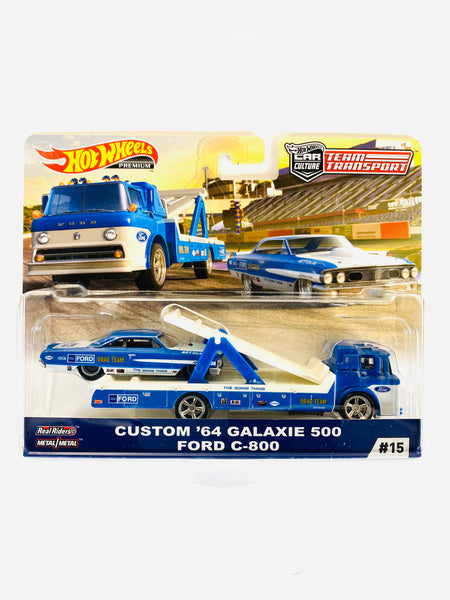 HOT WHEELS TEAM TRANSPORT CUSTOM '64 GALAXIE 500 FORD C-800