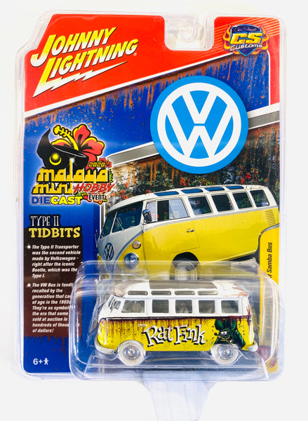 JOHNNY LIGHTING RAT FINK 1965 VW TYPE II SAMBA BUS - DINNER SAMBA