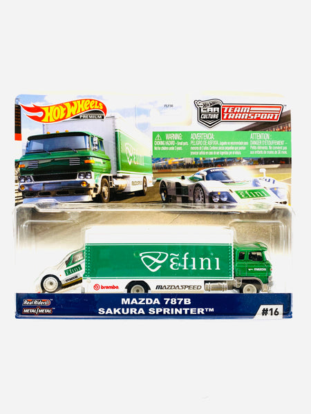HOT WHEELS TEAM TRANSPORT MAZDA 787B SAKURA SPRINTER