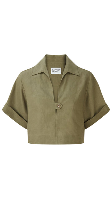 Popover Army Linen Shirt
