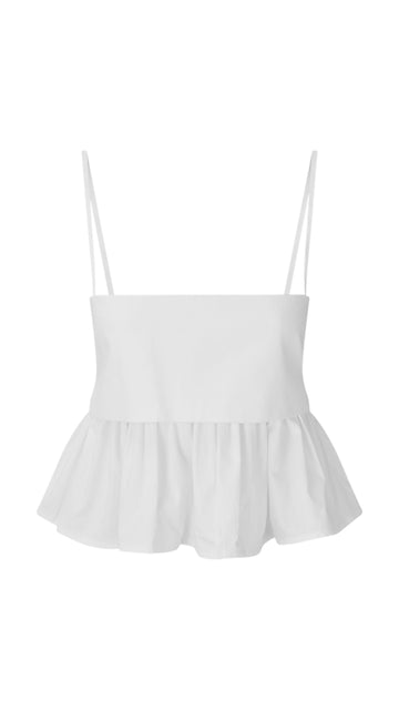 Structured Bandeau Ruffle Top