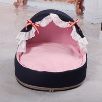 2019 Dog Puppy Bed Princess Soft Warm Pet Winter House Lovely Comfortable Cat Kennel Pet Bed camas para perro House For cat