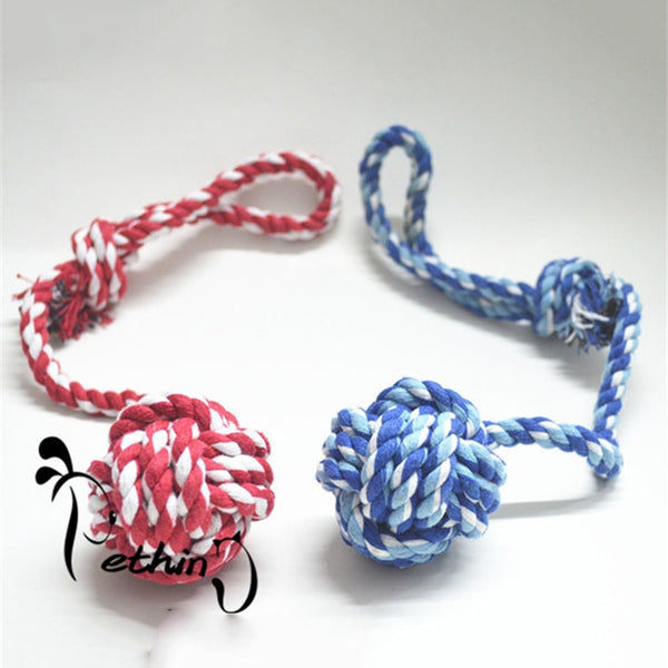 Dog Training Toys Large Dog Rope Pet Chew Rope Toys Training Play Toy Handmade Cotton Ropes Pet Supplies Random Colors