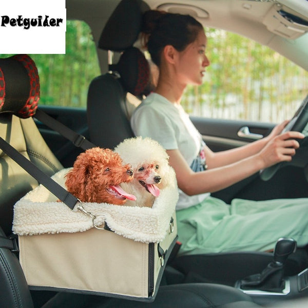 Pet Dog Car Seat Carrier Foldable Portable Safety Multifunction Car Booster Travel Bed Waterproof