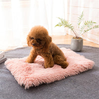 Winter Dog Bed Mat Soft Fleece Pet Cushion House Warm Puppy Cat Sleeping Bed Blanket For Small Large Dogs Cats mat