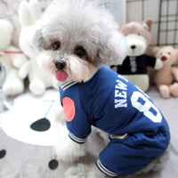 Vintage Sports Dog Tracksuit Overalls Four Legs Winter Warm Pet Down Jackets For Puppies Animal S XXL Chihuahua Yorkie Shih Tzu