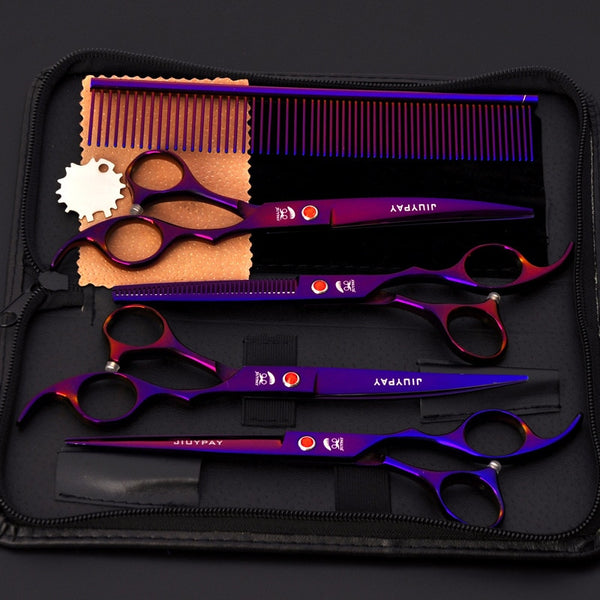 5pcs Stainless Steel Pet Dogs Grooming Scissors Cat Hair Thinning Shear Sharp Edge Scissors For Dogs Animal Barber Cutting Tool
