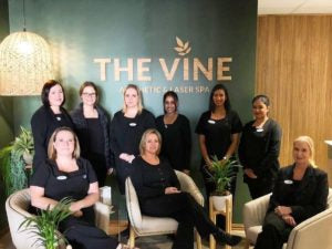 Hall's lights up The Vine Aesthetic and Laser Spa